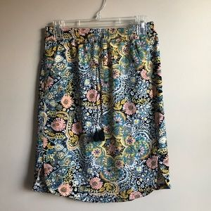 LOFT Tapestry Drawstring Skirt